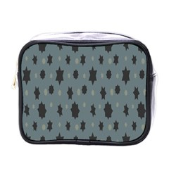 Star Space Black Grey Blue Sky Mini Toiletries Bags by Mariart