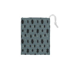 Star Space Black Grey Blue Sky Drawstring Pouches (xs)  by Mariart