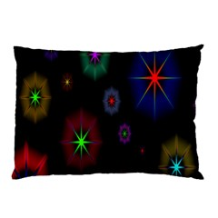 Star Space Galaxy Rainboiw Circle Wave Chevron Pillow Case (two Sides) by Mariart