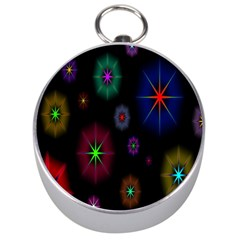 Star Space Galaxy Rainboiw Circle Wave Chevron Silver Compasses by Mariart
