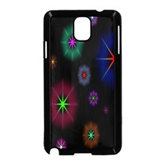 Star Space Galaxy Rainboiw Circle Wave Chevron Samsung Galaxy Note 3 Neo Hardshell Case (black) by Mariart