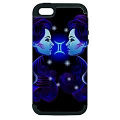 Sign Gemini Zodiac Apple Iphone 5 Hardshell Case (pc+silicone) by Mariart