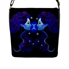 Sign Gemini Zodiac Flap Messenger Bag (l)  by Mariart