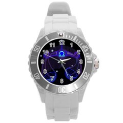 Sign Libra Zodiac Round Plastic Sport Watch (l)