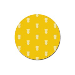 Waveform Disco Wahlin Retina White Yellow Vertical Magnet 3  (round) by Mariart