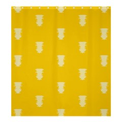 Waveform Disco Wahlin Retina White Yellow Vertical Shower Curtain 66  X 72  (large)  by Mariart