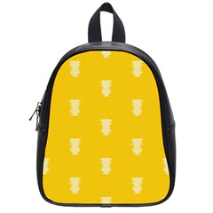 Waveform Disco Wahlin Retina White Yellow Vertical School Bags (small)  by Mariart