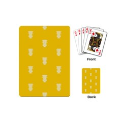 Waveform Disco Wahlin Retina White Yellow Vertical Playing Cards (mini)  by Mariart