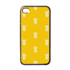 Waveform Disco Wahlin Retina White Yellow Vertical Apple Iphone 4 Case (black) by Mariart