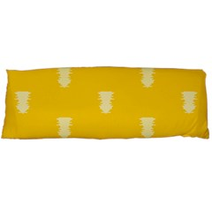 Waveform Disco Wahlin Retina White Yellow Vertical Body Pillow Case Dakimakura (two Sides) by Mariart