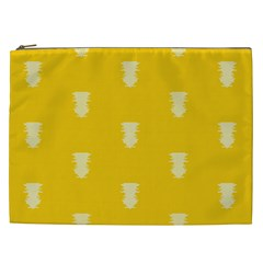 Waveform Disco Wahlin Retina White Yellow Vertical Cosmetic Bag (xxl)  by Mariart