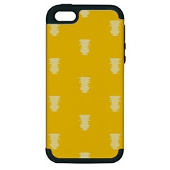 Waveform Disco Wahlin Retina White Yellow Vertical Apple Iphone 5 Hardshell Case (pc+silicone) by Mariart
