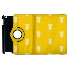 Waveform Disco Wahlin Retina White Yellow Vertical Apple Ipad 3/4 Flip 360 Case by Mariart