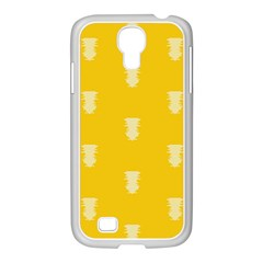 Waveform Disco Wahlin Retina White Yellow Vertical Samsung Galaxy S4 I9500/ I9505 Case (white) by Mariart