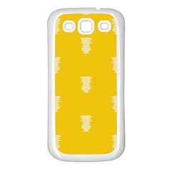 Waveform Disco Wahlin Retina White Yellow Vertical Samsung Galaxy S3 Back Case (white) by Mariart
