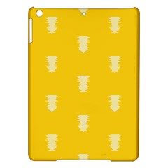 Waveform Disco Wahlin Retina White Yellow Vertical Ipad Air Hardshell Cases by Mariart