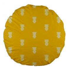 Waveform Disco Wahlin Retina White Yellow Vertical Large 18  Premium Flano Round Cushions by Mariart