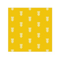 Waveform Disco Wahlin Retina White Yellow Vertical Small Satin Scarf (square) by Mariart