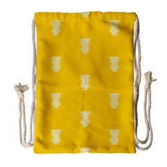 Waveform Disco Wahlin Retina White Yellow Vertical Drawstring Bag (large) by Mariart