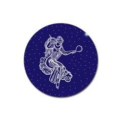 Virgo Zodiac Star Magnet 3  (round) by Mariart