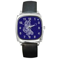 Virgo Zodiac Star Square Metal Watch by Mariart