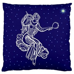 Virgo Zodiac Star Large Cushion Case (two Sides) by Mariart