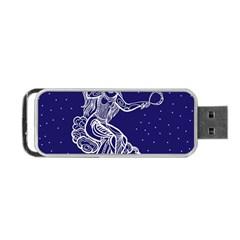Virgo Zodiac Star Portable Usb Flash (one Side) by Mariart