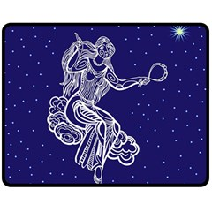 Virgo Zodiac Star Double Sided Fleece Blanket (medium)  by Mariart