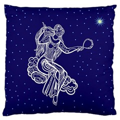 Virgo Zodiac Star Standard Flano Cushion Case (two Sides) by Mariart