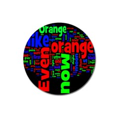 Writing Color Rainbow Magnet 3  (round) by Mariart