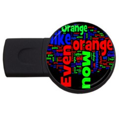 Writing Color Rainbow Usb Flash Drive Round (4 Gb) by Mariart