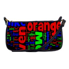 Writing Color Rainbow Shoulder Clutch Bags by Mariart