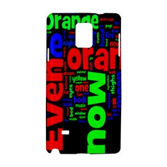Writing Color Rainbow Samsung Galaxy Note 4 Hardshell Case by Mariart