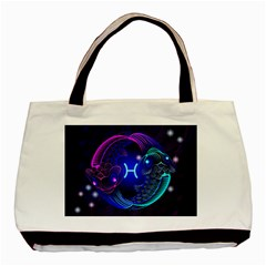 Sign Pisces Zodiac Basic Tote Bag by Mariart