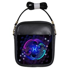 Sign Pisces Zodiac Girls Sling Bags by Mariart