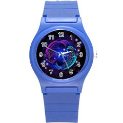 Sign Pisces Zodiac Round Plastic Sport Watch (s) by Mariart
