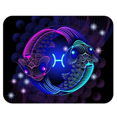Sign Pisces Zodiac Double Sided Flano Blanket (medium)  by Mariart
