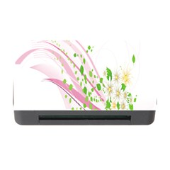 Sunflower Flower Floral Leaf Line Wave Chevron Pink Memory Card Reader With Cf by Mariart