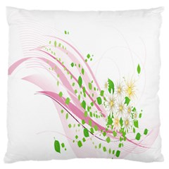 Sunflower Flower Floral Leaf Line Wave Chevron Pink Standard Flano Cushion Case (one Side) by Mariart