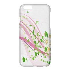 Sunflower Flower Floral Leaf Line Wave Chevron Pink Apple Iphone 6 Plus/6s Plus Hardshell Case by Mariart