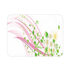 Sunflower Flower Floral Leaf Line Wave Chevron Pink Double Sided Flano Blanket (mini)  by Mariart