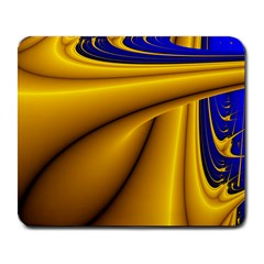 Waves Wave Chevron Gold Blue Paint Space Sky Large Mousepads by Mariart