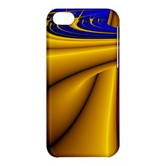 Waves Wave Chevron Gold Blue Paint Space Sky Apple Iphone 5c Hardshell Case by Mariart