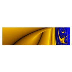 Waves Wave Chevron Gold Blue Paint Space Sky Satin Scarf (oblong) by Mariart