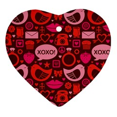Xoxo! Heart Ornament (two Sides) by Nexatart