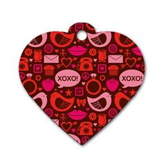 Xoxo! Dog Tag Heart (one Side)