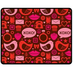 Xoxo! Double Sided Fleece Blanket (medium)