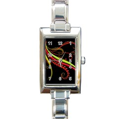 Cool Pattern Designs Rectangle Italian Charm Watch