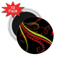 Cool Pattern Designs 2 25  Magnets (10 Pack)