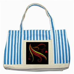 Cool Pattern Designs Striped Blue Tote Bag by Nexatart